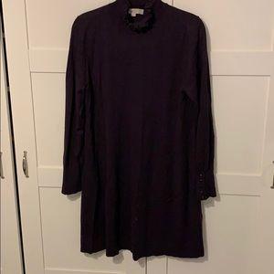 Loft size large sweater dress in eggplant